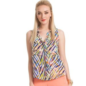 Trina Turk Vivienne Woven Top, Size Large